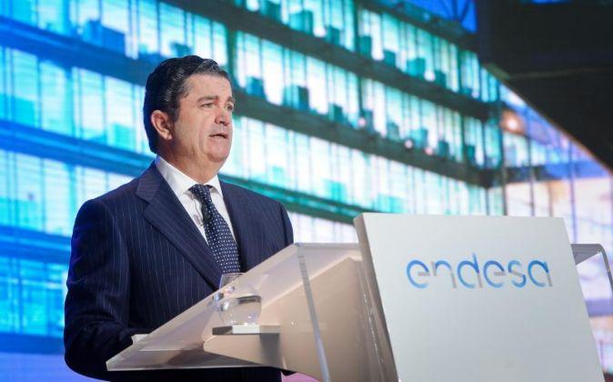 Borja Prado, presidente de Endesa, durante la última Junta General de...