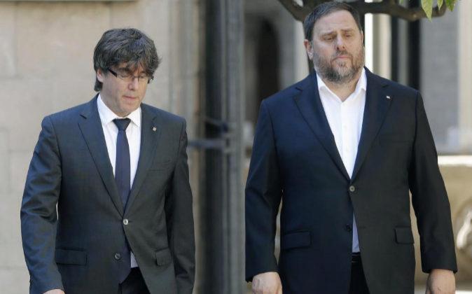 Imagen de archivo del presidente de la Generalitat, Carles Puigdemont,...