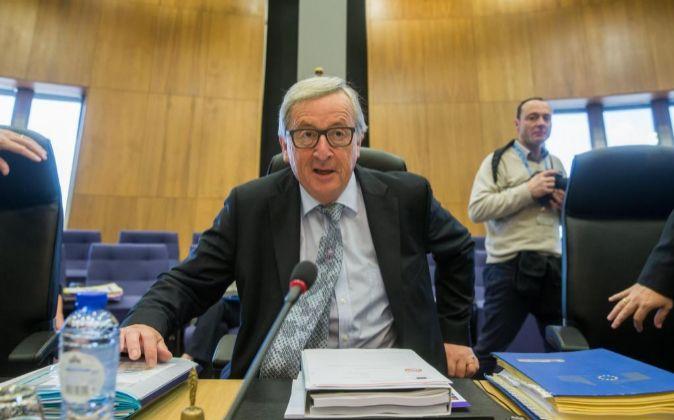 El presidente de la Comisión Europea (CE), Jean-Claude Juncker,...