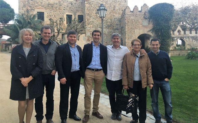 Los socios de Oncostellae, empresa gallega especializada en el...