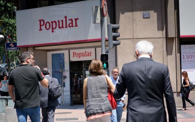 Oficina de Banco Popular en Madrid.