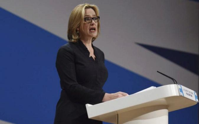 La ministra de Interior británica, Amber Rudd.