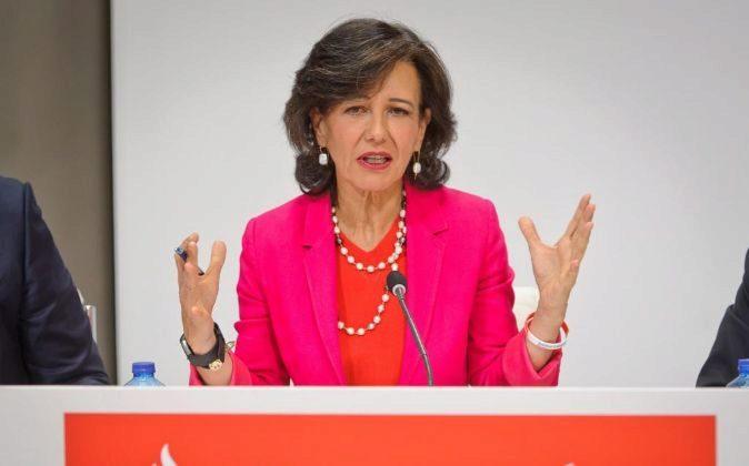 Ana Botín, presidente de Santander.