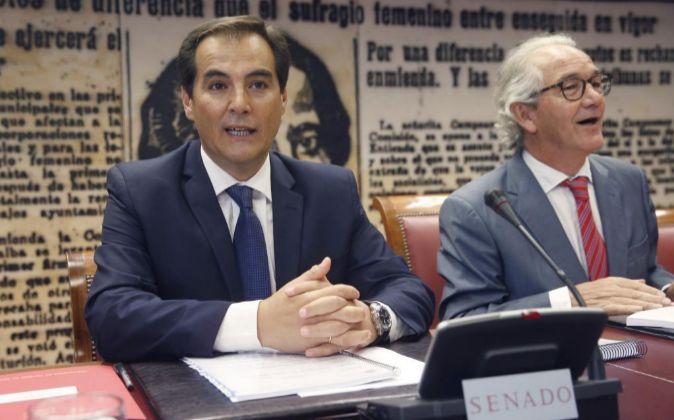 El secretario de Estado de Seguridad, José Antonio Nieto, hoy durante...