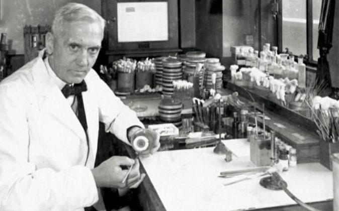 El doctor Alexander Fleming.