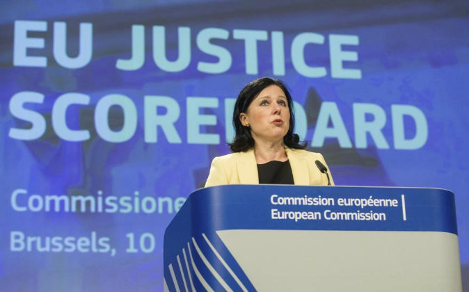 La comisaria europea de Justicia, Consumidores e Igualdad de Género,...