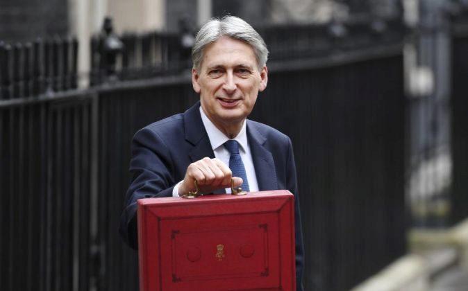 El ministro británico de Economía, Philip Hammond, el pasado mes de...