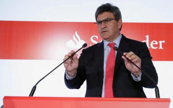 José Antonio Álvarez, consejero delegado de Santander, hoy.