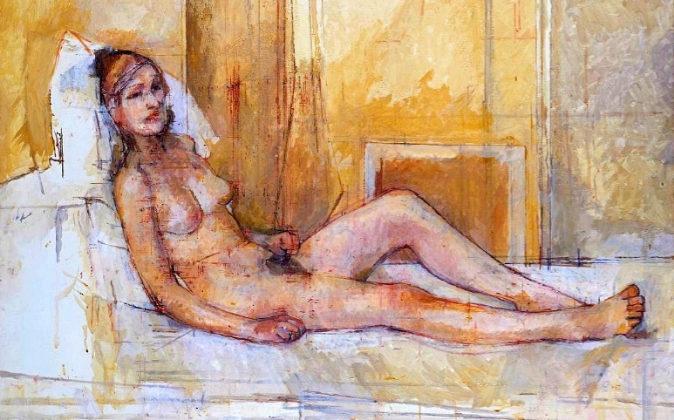 YWilliam Coldstream: 'Desnudo acostado' (1974-76).