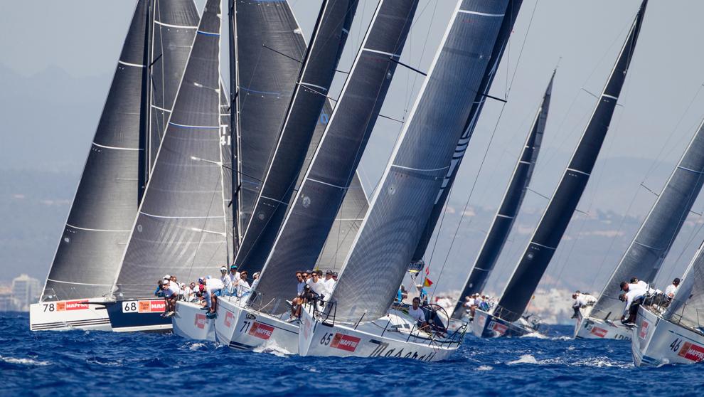 La flota de la clase BMW ORC 1 de  la Copa del Rey Mapfre, durante la...