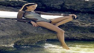 """La """"top model"""" Almudena Fernández (Benavente, Zamora, 2 de septiembre..."""