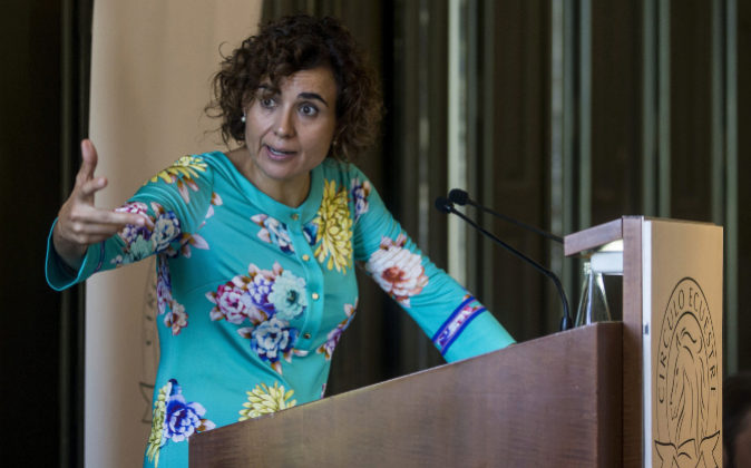 Dolors Monserrat, ministra de Sanidad, en Barcelona el día 17 de...