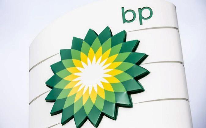 Logo de una gasolinera de BP