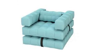 Este cómodo capricho flotante en forma de sillón tiene unas medidas...