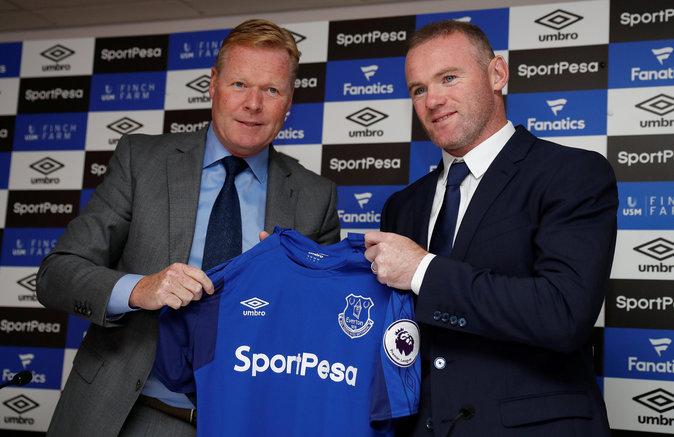 Wayne Rooney, en la presentación del acuerdo del Everton con...