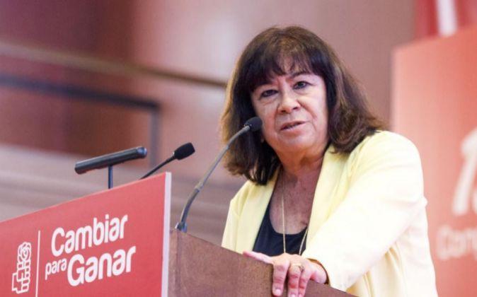 La presidenta del PSOE, Cristina Narbona durante la clausura del 13...