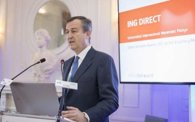 César González Bueno, consejero delegado de ING en España.
