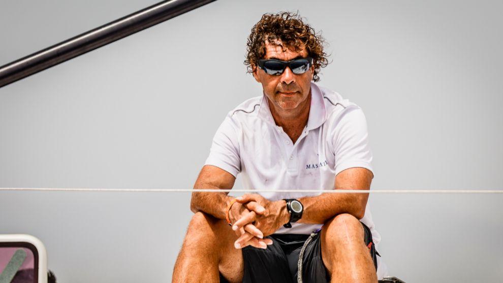 Guillermo Altadill, a bordo del 'Maserati'.