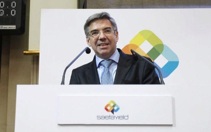 José Luis Martínez Dalmau, presidente de Saeta Yield, durante el...
