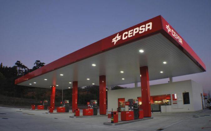 Imagen de una estación de servicio de Cepsa