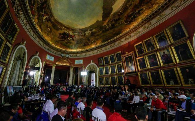 Sesión de la Asamblea Nacional Constituyente.
