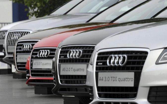 Coches de la marca Audi  en Neckarsulm (Alemania), en una imagen de...