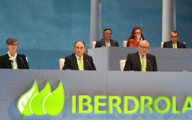 El presidente de Iberdrola, Ignacio Sánchez Galán, en la junta...