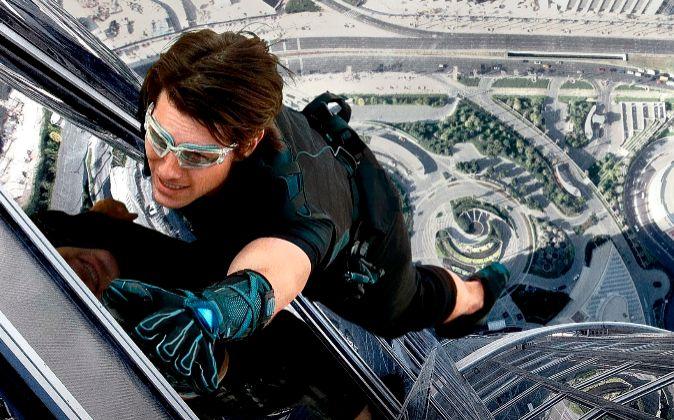 Tom Cruise en una escena de 'Protocolo Fantasma', la cuarta...