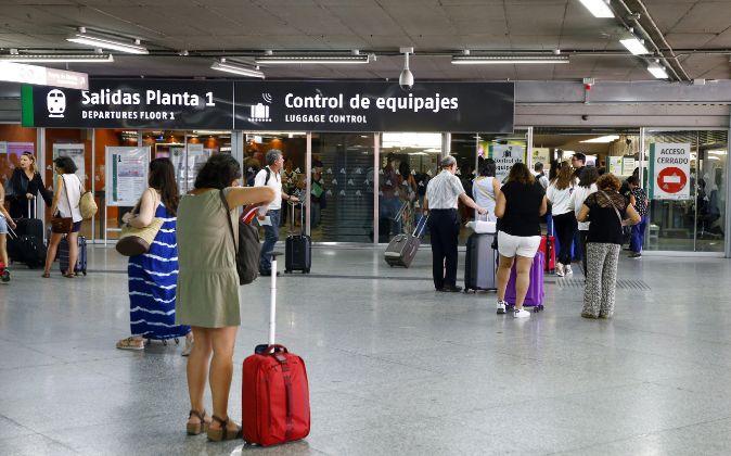 Vista de la estación de Atocha, en Madrid
