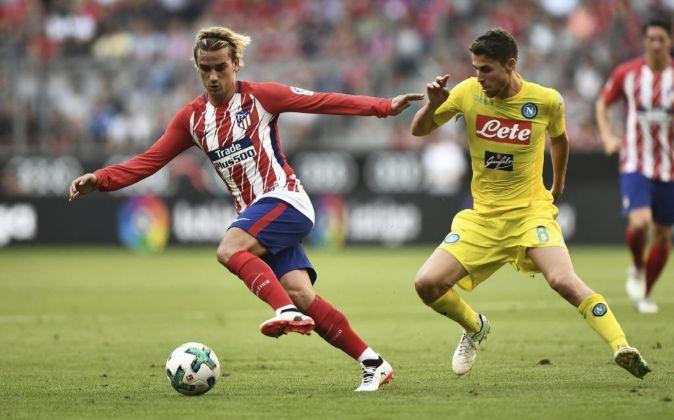 El delantero del Atlético de Madrid,Antoine Griezmann.