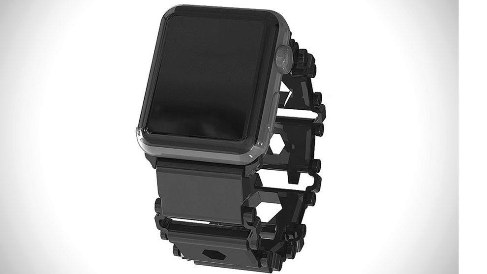 Leatherman Tread Apple Watch Adapter modelo negro.