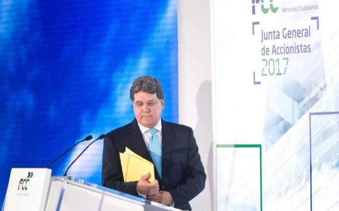 Carlos Jarque, CEO de FCC, durante la última junta de accionistas de...