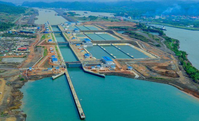 Panorámica de la esclusa de Cocolí enCiudad de Panamá, cortesía de...