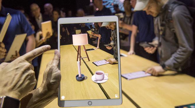 Demostración del ARKit de Apple.