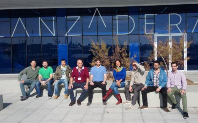 El equipo de la start up Sheetgo, en la sede de Lanzadera en Valencia.