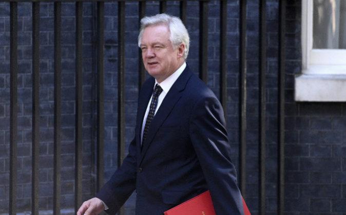 El ministro del Brexit, David Davis.