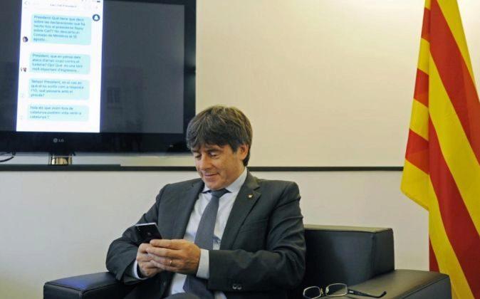 El presidente de la Generalitat, Carles Puigdemont, el pasado 2 de...