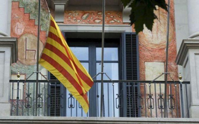 Foto recurso de una bandera catalana.