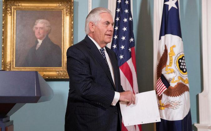 El secretario de Estado de EEUU, Rex Tillerson.