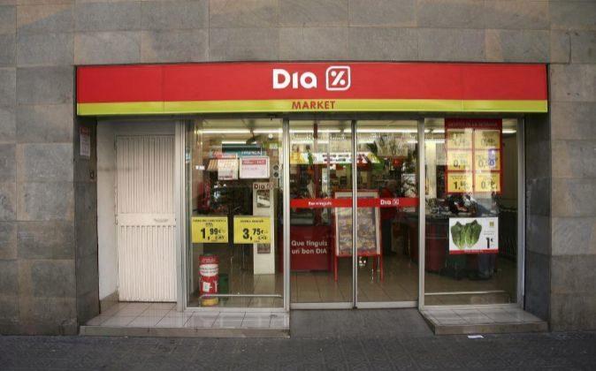 Supermercado Dia Market en Barcelona.