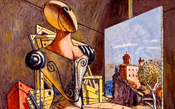 'El contemplador' de Giorgio de Chirico (1976) es una de las...