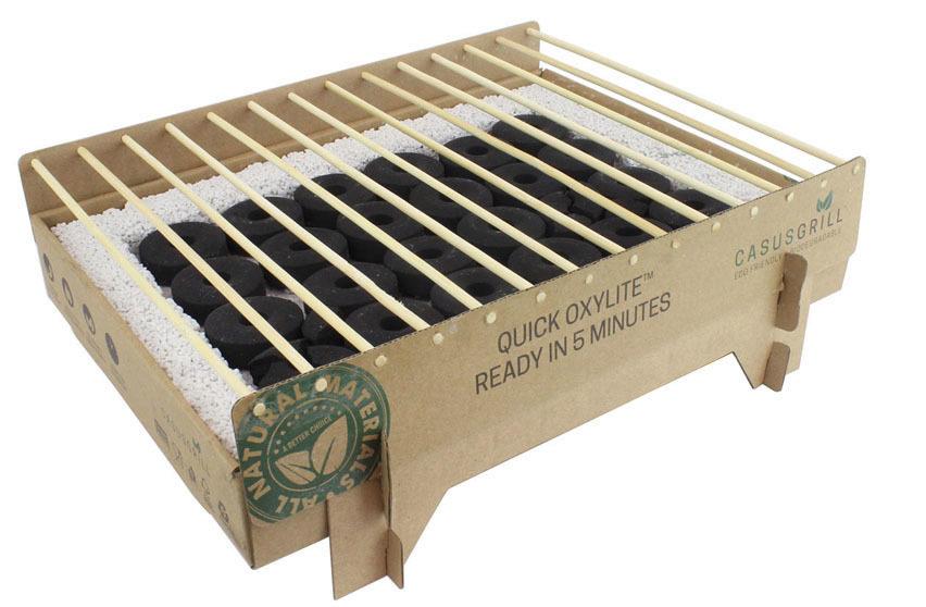 CasusGrill de cartón y bambú muy resistente.