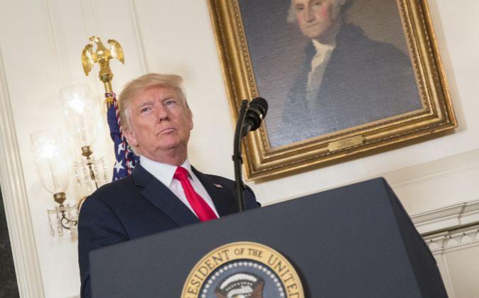 Donald Trump durante una comparecencia.