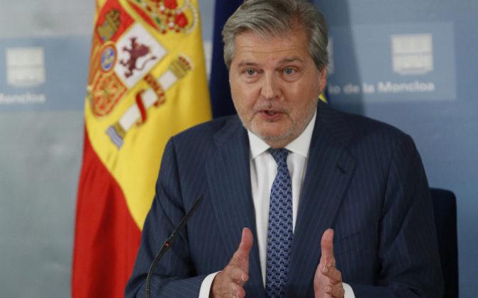 El ministro de Educación y portavoz del Gobierno, Iñigo Méndez de...