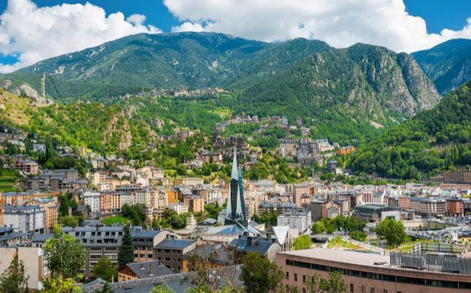 Andorra la Vella, capital de Andorra.