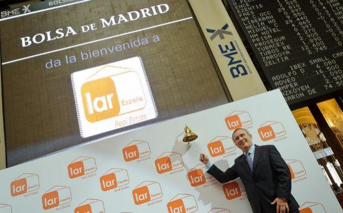 El presidente de Lar España Real Estate, José Luis del Valle, en la...