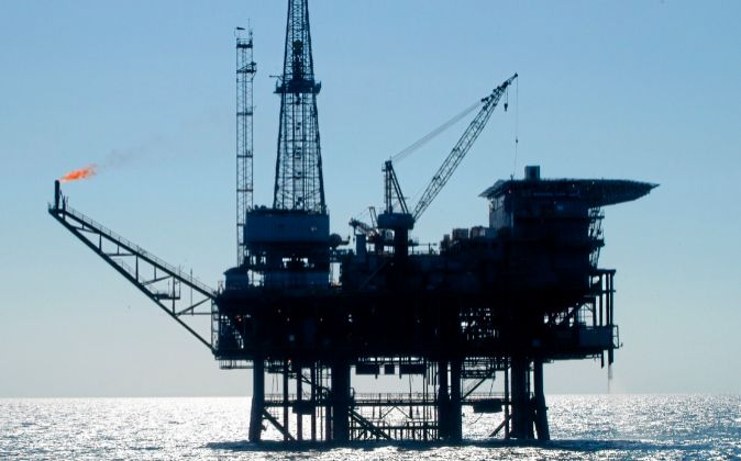 Imagen de una plataforma petrolífera de Repsol.