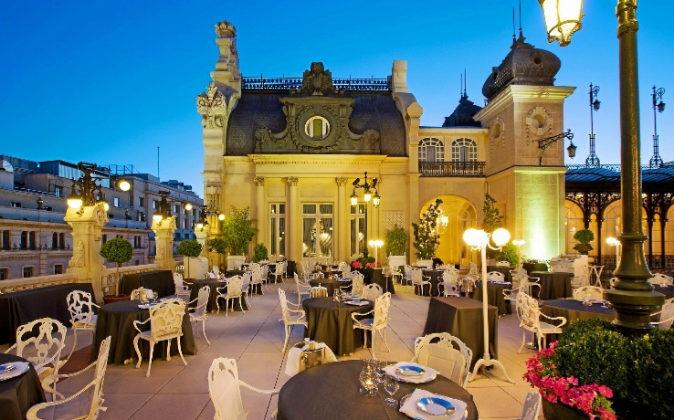 La Terraza ocupa el ático del NH Collection Casino de Madrid.