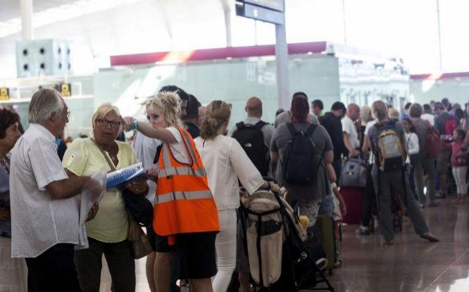 Aeropuerto del Prat, en Barcelona.