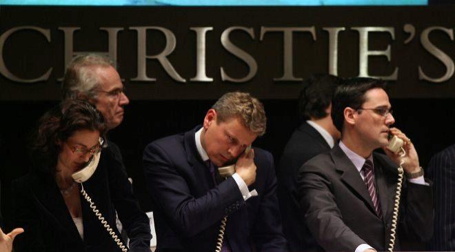 Empleados de Christie's.